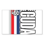 hemi RWBB Rectangle Sticker 50 pk)