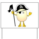 Pirate Egghead Yard Sign