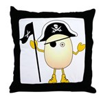 Pirate Egghead Throw Pillow