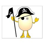 Pirate Egghead Small Poster