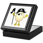 Pirate Egghead Keepsake Box