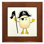 Pirate Egghead Framed Tile