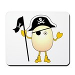 Pirate Egghead Mousepad