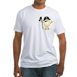 Pirate Egghead Pocket Image Fitted T-Shirt
