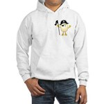 Pirate Egghead Pocket Image Hooded Sweatshirt