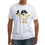 Pirate Egghead Fitted T-Shirt