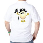 Pirate Egghead Back Image Golf Shirt