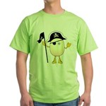 Pirate Egghead Green T-Shirt