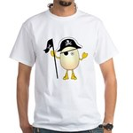 Pirate Egghead White T-Shirt