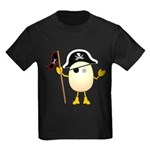 Pirate Egghead Kids Dark T-Shirt