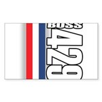 Boss 429 Rectangle Sticker 50 pk)