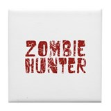 Zombie Hunter Tile Coaster
