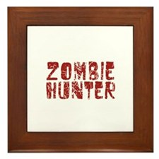 Zombie Hunter Framed Tile