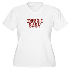 Zombie Baby Women's Plus Size V-Neck T-Shirt
