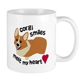 Corgi Smiles Melt My Heart Small Mugs