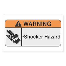 Shocker Hazard Rectangle Decal