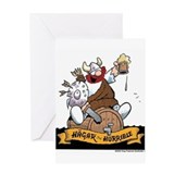 Hagar on Keg Greeting Card