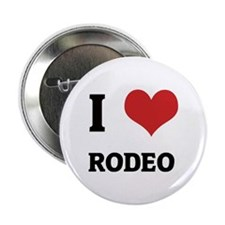 I Love Rodeo Button
