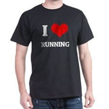 I Love Running Black T-Shirt