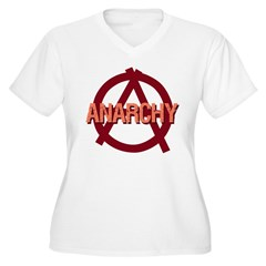 Anarchy Women's Plus Size V-Neck T-Shirt
