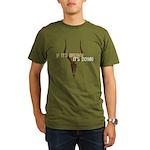 If It's Brown It's Down Organic Men's T-Shirt (dar