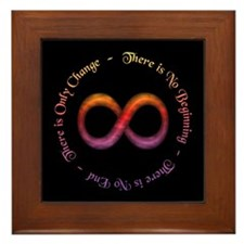 Infinity Is Change Framed Tile