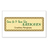 Antiques Rectangle Decal