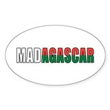 Madagascar Oval Sticker (50 pk)