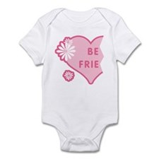 Pink Best Friends Heart Left Infant Bodysuit