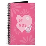 Pink Best Friends Heart Right Journal