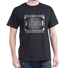 Darts Beer Pool Triathlete T-Shirt