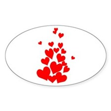 Hearts Oval Decal