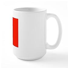 Canada Canadian Blank Flag Large Mug