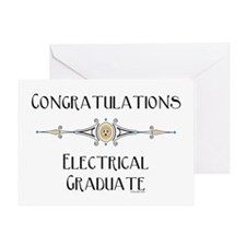 Electrical Graduation (Blank) Greeting Card