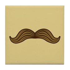 Retro Moustache Tile Coaster