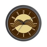 Retro Moustache Wall Clock