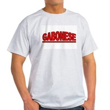 """Gabonese"" Ash Grey T-Shirt"