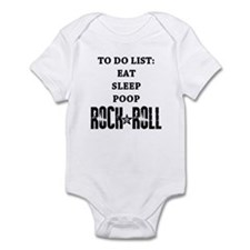 To Do List Rock And Roll Onesie
