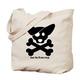 Pirate Corgi Skull Tote Bag