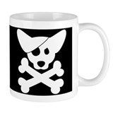 Pirate Corgi Skull Mug