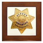 San Joaquin Sheriff Framed Tile