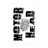 Motor Head Rectangle Sticker 50 pk)