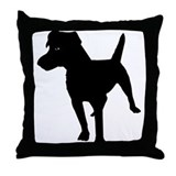 Patterdale Terrier Throw Pillow