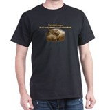 Custom Photo Labrador  Black T-Shirt