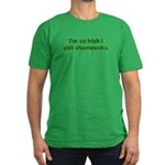 So Irish I Shit Shamrocks Men's Fitted T-Shirt (da