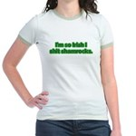 So Irish I Shit Shamrocks Jr. Ringer T-Shirt