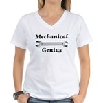 Mechanical Genius Women's V-Neck T-Shirt