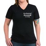 Mechanical Genius Women's V-Neck Dark T-Shirt