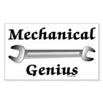 Mechanical Genius Rectangle Sticker 50 pk)
