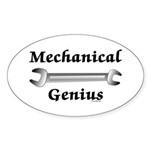 Mechanical Genius Oval Sticker (10 pk)